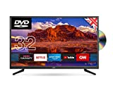 """Cello 32"""" C32SFSD Superfast Smart LED TV with Built-In DVD Player"""