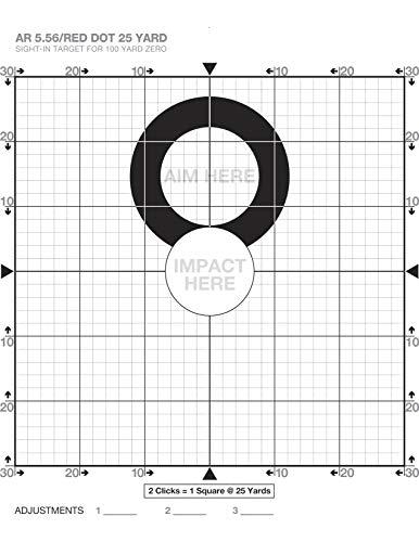 Chris Sajnog 25 Yard Sight-in Targets for a 100-Yard Zero -...