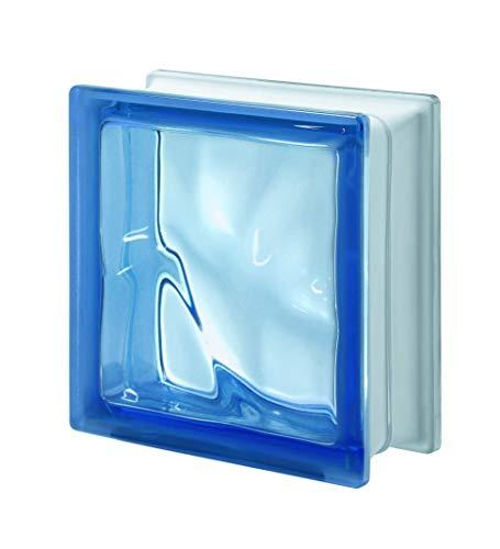 Bloque de Vidrio Azul Ondulado...