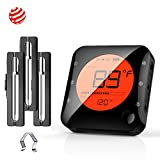 BFOUR Wireless Bluetooth Meat Thermometer for Grilling, Premium Digital Instant Read Meat ...