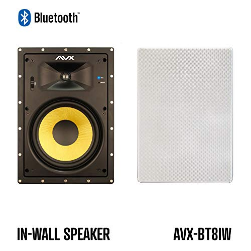 Best Price Bluetooth in-Wall Speaker Pair - 8 by AVX Audio (8 Bluetooth in-Wall Speaker Pair)