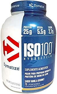 ISO 100 Hydrolyzed 5 Lbs Vainilla Dymatize.