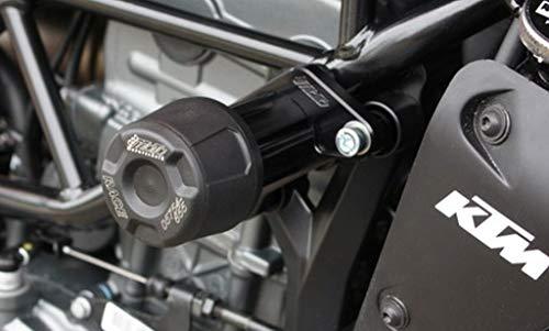 GSG-Moto Sturzpads passend für KTM Duke 125 ab 2017 Halteplatten Schwarz eloxiert NEU