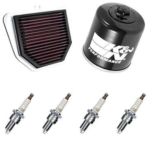 K&N NGK Filtre à air Filtre à huile Bougie d'allumage FZ1 1000 S GT Fazer 2007 Entretien
