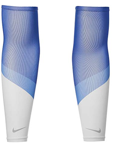 Nike Unisexe - Adulte Cooling Running Sleeves, N.100.0511.958.LX, Game Royal/Pacific Blue/Silver, L-XL