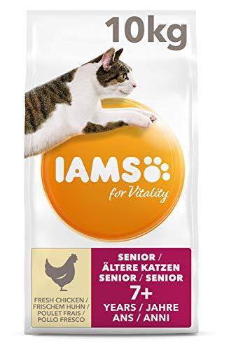 IAMS for Vitality Senior Katzenfutter trocken mit frischem Huhn 10kg