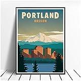 HDKSA Portland Oregon Leinwand Malerei Kunstdruck Poster