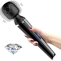 Varita masajeadora vibradora - arita mágica inalámbrica de mano, vibrante juguete para mujeres, masajeador eléctrico inalámbrico, impermeable, portátil, recargable, el regalo perfecto para las mujeres