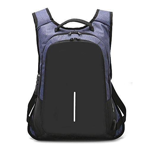 FENXIMEI Travel Laptop Rugzak, Zakelijke Anti Diefstal Slim Duurzame Laptops Rugzak met USB Opladen Poort, Waterbestendig College School Computer Tas Unisex Past 15.6 Inch Laptop en Notebook