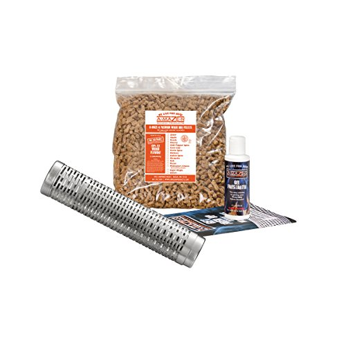 "Find Bargain A-MAZE-N Pellet Smoker 12-18"" Expanding Tube with 2 lbs Pitmasters Choice Pellets, Ge..."