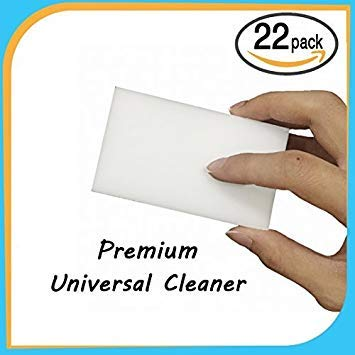 22 ECO-PACK Extra Durable Magic Eraser Cleaning Sponges in Bulk - Multi-Functional Melamine Foam Sponge for Car-Kitchen-Bathroom-Furniture-Leather-Steel- Bath Mop Pad scrubber & Wall Cleaner