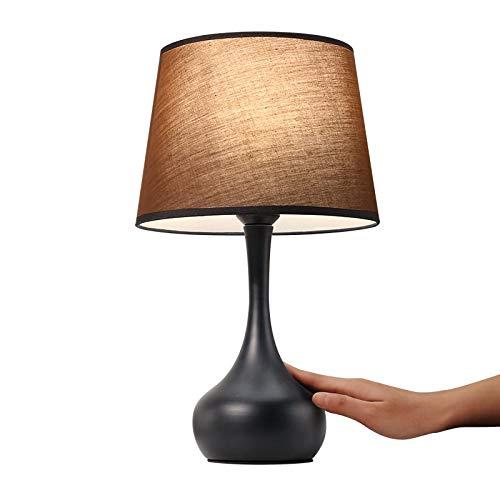 XYX Lámpara de Escritorio Mesita de Noche de la lámpara - lámpara de Mesa Moderna, Dormitorio, Sala de Estar, Oficina lámpara de Tabla Simple - Negro Lámpara de Mesa (Color : As Shown)