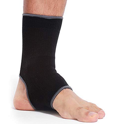 Neotech Care - Fotledsstöd (1 st) - öppen häl, lätt, elastiskt & andningsaktivt stickat tyg - medium kompression - för män, kvinnor, barn - höger eller vänster fot - svart färg - S