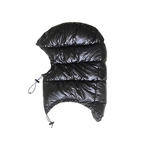 ASDFGH Full Face Coperto Giù Il Cappello Caldo Piumino D'Oca Cappello Esterno Ultra Leggero Ideale for Busta Sacco a Pelo Naturale Escursionismo Attrezzature (Color : A)