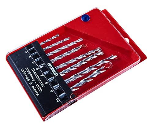 Amtech F1750 Lot de 8 forets à maçonnerie avec boîte de Rangement