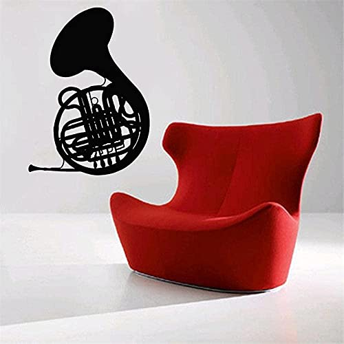Pegatinas de pared Instrumentos de viento Cuerno francés Banda de viento Pegatinas de estudio de música Decoración del hogar Tienda de la escuela Mural de sala de estar 71x99cm-XL_71x99cm
