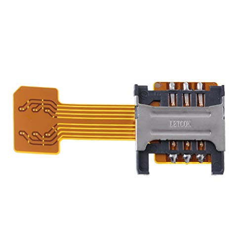 Gwxevce Hybrid Dual Dual SIM Card Micro SD Adapter para Phone Extender Nano Mic
