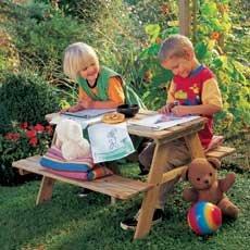 Fabian Picknicktisch und Kindertisch für den Garten