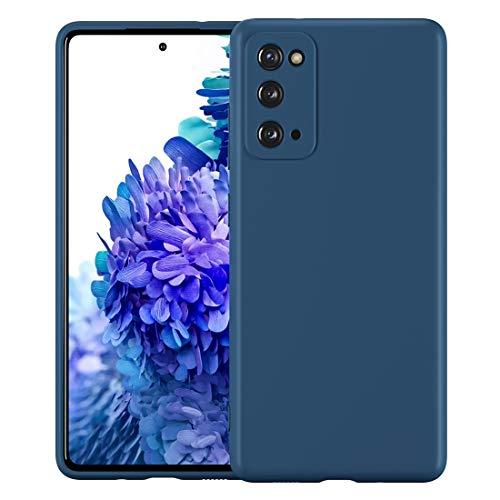 Cresee für Samsung Galaxy S20 FE Hülle Hülle, Silikon Handyhülle mit Faser-Futter Anti-Scratch Dünn Schutzhülle Stoßfest Fall für S20 FE / S20 FE 5G (Blau)
