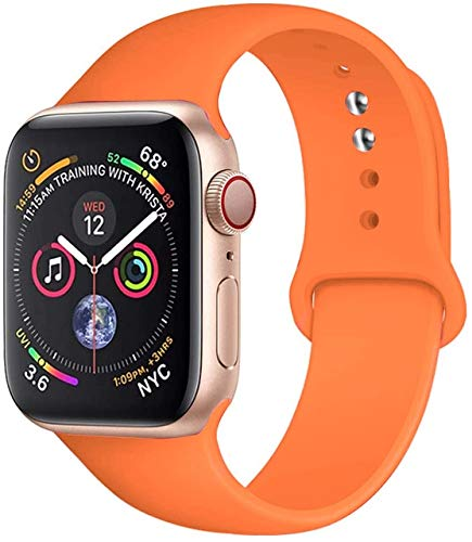 MOODER Strap Compatible With Apple Watch Band 44Mm 42Mm 40Mm 38Mm Silicone Sport Belt Bracelet Compatible With Iwatch Band Compatible With Apple Watch Series 6 Se 5 4 3