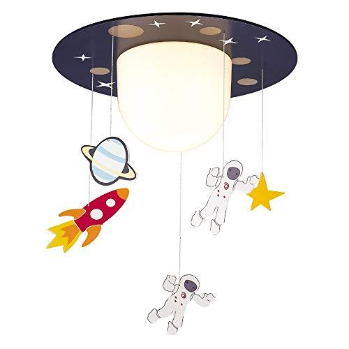 Wonderlamp W-A000131 Plafón de techo infantil Astronautas, Color Azul
