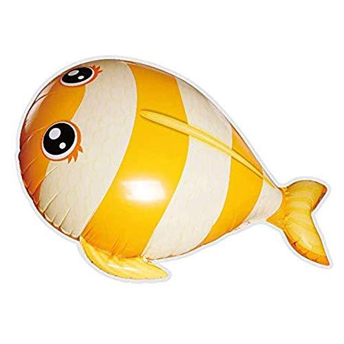 Control remoto de peces voladores juguetes de aire nadadores RC Animal Juguete sobre la habitación de natación peces grandes inflables interiores de entretenimiento modelo,amarillo