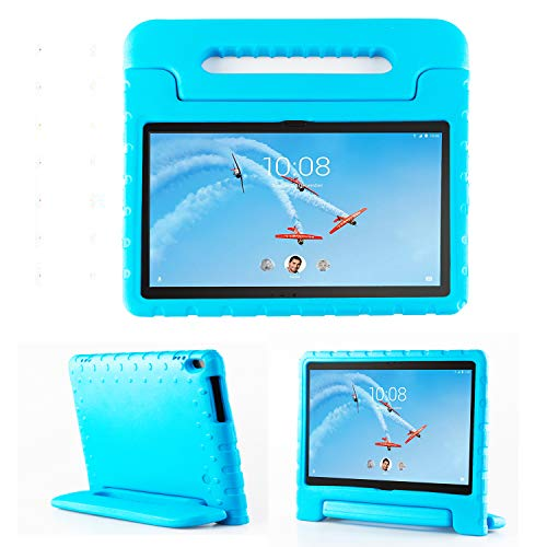 TIRIN Lenovo TAB 4 10 Plus Case - Light Weight EVA Shock Proof Convertible Handle Stand Case Cover for Lenovo TAB 4 10 Plus 2017 Tablet(TB-X704F/N)(NOT fit Lenovo TAB 4 10 Tablet TB-X304F/N), Blue