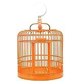 Jaulas para pájaros Jaula de pájaros de bambú hecha a mano para pequeña jaula de pájaros Pájaros Pájaro simple jaula ornamental, adecuada para pájaros pequeños, canarios, pájaros de amor Jaula de vuel