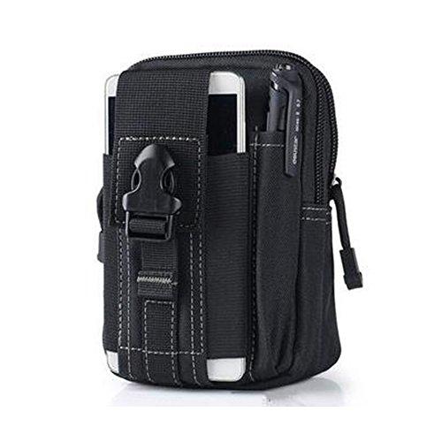 ND randonnée, Escalade ou l'emplacement de Camping Plein air Sac Sac Sac Style Pack Tactique de Taille compacte utilité Gadget Poche Portable Molle (Noir)