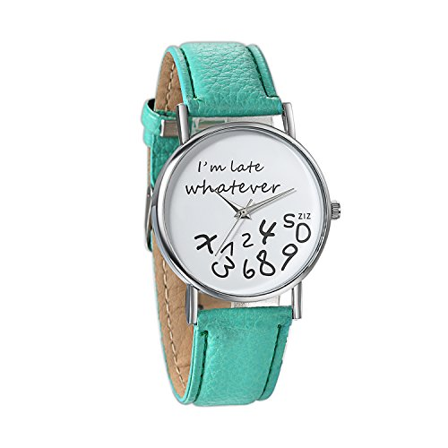 Jewelrywe Orologio al Quarzo da Donna Ragazzi'I'm already late, whatever'...