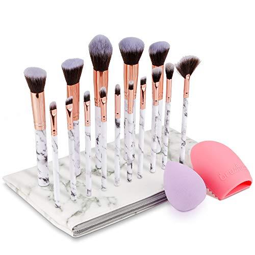 Make Up Pinsel Set, Komake Kosmetikpinsel Foundation Pinsel Set Gesichtspinsel Make Up Schminkpinsel Lidschattenpinsel Augenpinsel Lippenpinsel mit Beauty Schwamm und Bürste Wash Ei (15+2 Stücke)