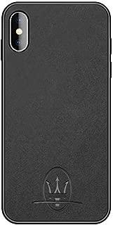 unbrand iPhone X Case Luxury Car Maserati Logo Super Slim Leather Case