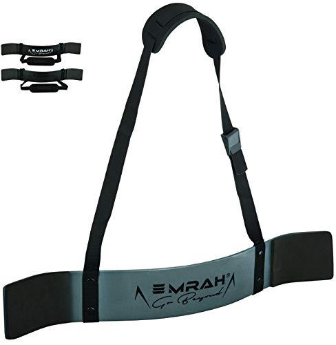 EMRAH Arm Blaster - Isolatore Bicipite per Bodybuilding, Allenamento con i Pesi e Sollevamento Pesi - Trainer per bicipiti (Metal Grey)