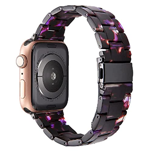 Luxus-Harzuhrarmband für Apple Watch 6 5 4 - Band Transparent farbig iWatch-kompatibel