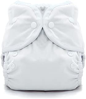 Thirsties Duo Wrap Cloth Diaper Cover, Snap Closure, White Size 1 (6-18 Pound)