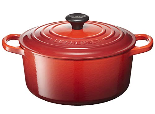 Le Creuset LS2501-2467 Signature Enameled Cast-Iron Round French (Dutch) Oven, 4-1/2-Quart, Cerise