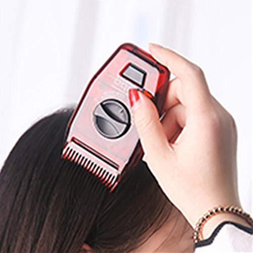 HUANRU 1/3 unidades de cortapelos manual Peine de viaje Mini ajustable Peine Cortapelos manual Peluquería Peine para hombre mujer (rojo oscuro)