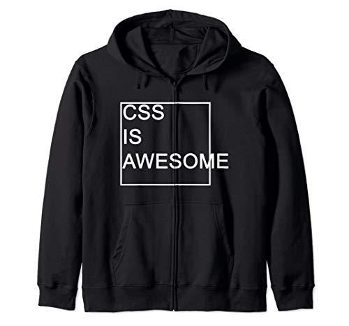 CSS Is Awesome Lustiges Programmierer Grafik Designer Kapuzenjacke