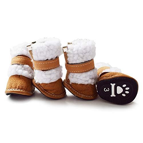 Shiningbaby Warme Winter Haustier Hund Schuhe Welpen Kaschmir Schnee Wandern Skischuhe Pfotenschutz