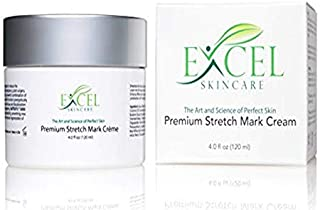 Excel's Stretch Mark Cream - Removal and treatment for Stretchmark Scar and Cellulite (No Pregnancy but Postpartum care) Skin Tightening Lightening and Fade remover that works cocoa butter formulated