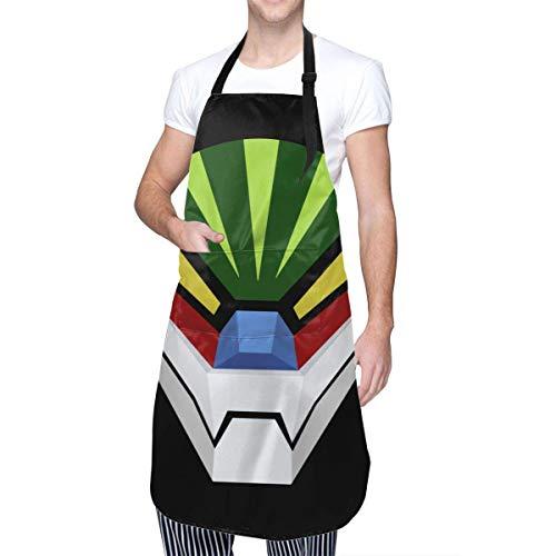 Delantal de Cocina clásico con Bolsillo Anime & Jeeg Robot para Hombres y Mujeres