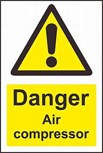 "JUCHen Danger air Compressor Bar Pub Garage Diner Cafe Home Wall Decor Art Aluminum Signs, 8"" W x 12"" H"