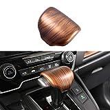 for Honda CRV CR-V 2017 2018 2019 2020 2021 Gear Shift Knob Cover Peach Wood Grain Interior Decoration (Gear Shift Knob Cover)