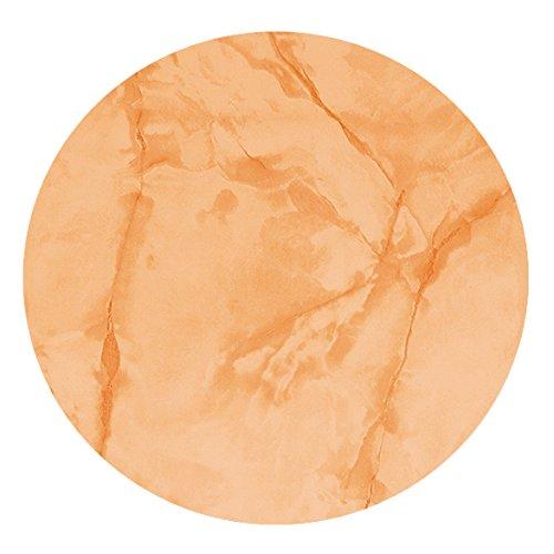 DecoHomeTextil Wachstuch Lack MARMOR LFGB RUND OVAL Größe & Farbe wählbar Terra ca. 140 cm Rund abwaschbar