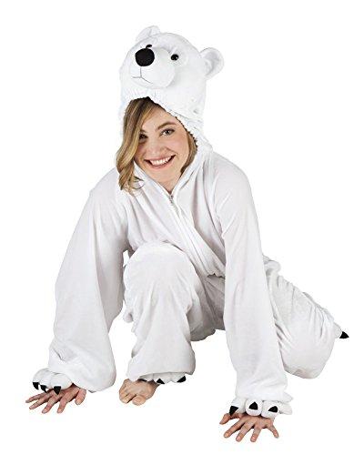 narrenkiste B88026-140 - Disfraz infantil de oso polar (hasta 140 cm de estatura)