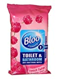 Bloo Toilet & Bathroom Wipes Sweet Tulip, 36 Wipes