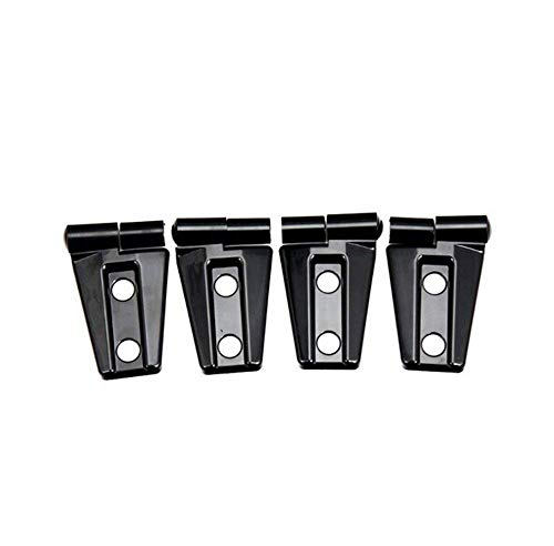 Price comparison product image Highitem New 4Pcs / Set Chrome ABS Door Hinge Cover Trim for 2007-2016 Jeep Wrangler JK (For 2 door