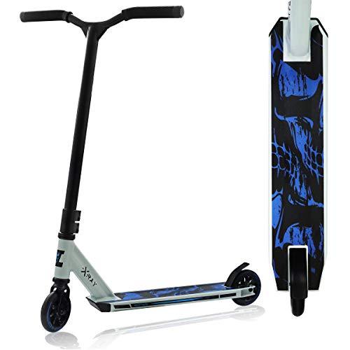 SportVida Patinete para niños a partir de 6 años, ruedas de caucho de 100 mm - 110 mm, color blanco