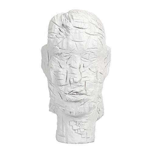 Art-Deco-Skulptur, Charakter Büste Statue Modell Kreative Kopfskulptur Abstrakte Kunst Familienzimmer Fenster Schreibtisch Ausstellungssammlung Antikes Gedenkgeschenk