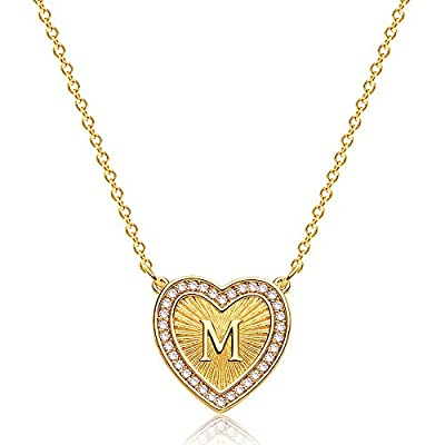 Amazon - 30% Off on Initial Heart Necklace 18K Gold Filled Dainty Gold Filled Pave Cubic Zircon
